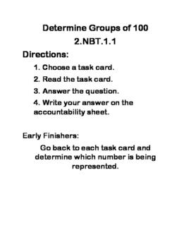 2.NBT.A.1 Math Centers