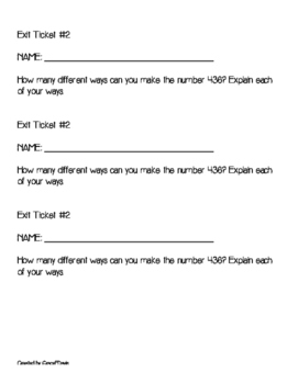 2.NBT.A.1 Place Value Packet
