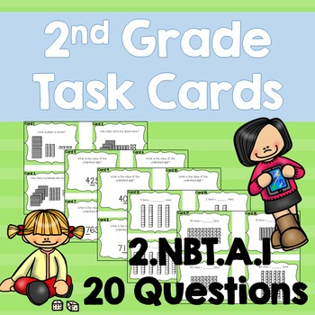 Place Value 2.NBT.A.1 Task Cards