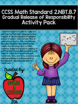 2.NBT.B.7 Adding & Subtracting Three-Digit Numbers G.R.R. Activities Pack