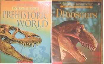 2 NEW Dinosaur USBORNE INTERNET-LINKED PREHISTORIC WORLD DINOSAURS Incl SHIP