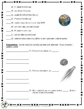 2 NGRE Exploring Space - Ch. 1, The Solar System, Satellites of the Sun, p5-12