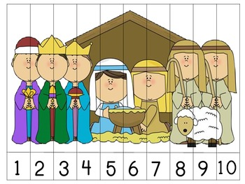 2 Nativity Number Order Puzzles