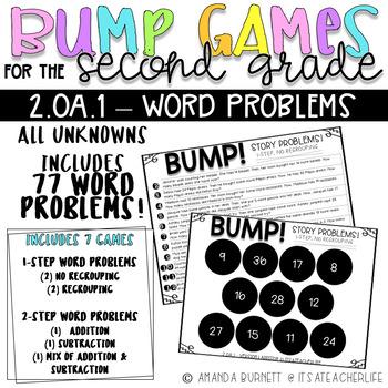 2.OA.1 | 1-Step & 2-Step Word Problems | BUMP Games
