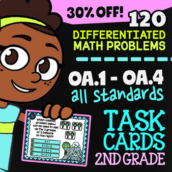 2.OA.1-2.OA.4 Self-Graded Google Classroom™ Math Activities | 2nd Grade Bundle
