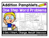 2.OA.1 Addition Word Problems Pamphlets - One Step