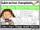BUNDLE - 2.OA.1 - Addition and Subtraction Two Step Word Problem Pamphlets