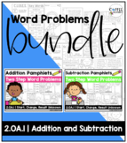 BUNDLE - 2.OA.1 - Addition & Subtraction Two Step Word Problems Pamphlets