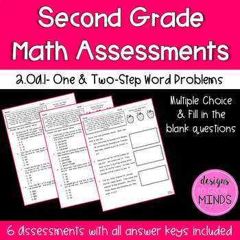 2.OA.1 Assessments- One & Two-Step Word Problems