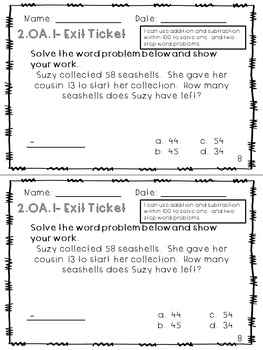 2.OA.1 Exit Tickets