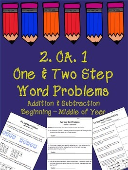 2.OA.1  One & Two Step Word Problems