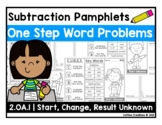 2.OA.1 Subtraction Word Problems Pamphlets - One Step