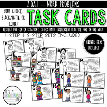 2.OA.1 Task Cards | Word Problems