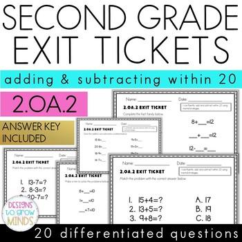 2.OA.2 Exit Tickets