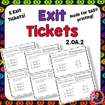 2.OA.2 Exit Tickets