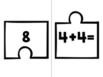2.OA.2 Puzzle Matching Activity Bundle