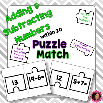2.OA.2 Puzzle Matching Activity Bundle