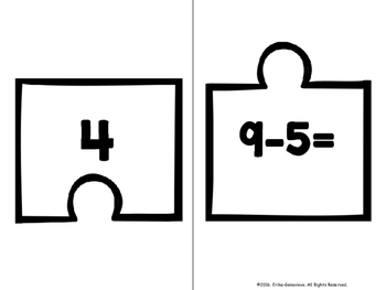 2.OA.2 Puzzle Matching Activity- Subtraction