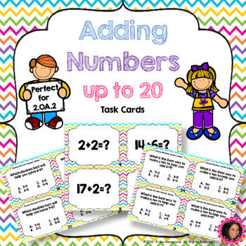 2.OA.2 Task Cards- Adding Numbers within 20