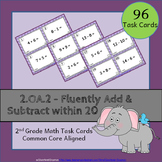 2.OA.2 Task Cards ⭐ Adding and Subtracting within 20 - Centers