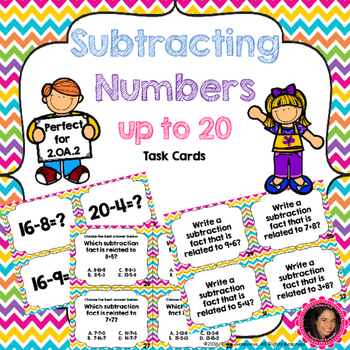 2.OA.2 Task Cards- Subtracting Numbers within 20