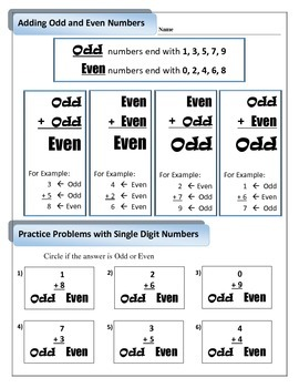 2.OA.3 Adding odd and even numbers