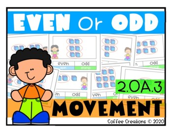 2.OA.3 - Even and Odd Movement Interactive Game