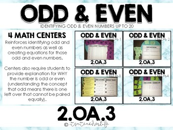 2.OA.3 Math Centers | Odd and Even