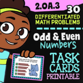 Odd & Even Numbers Activity for Google Classroom™ ✦ 2.OA.3 Task Cards 2ND GRADE