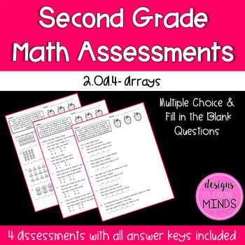 2.OA.4 Assessments- Arrays