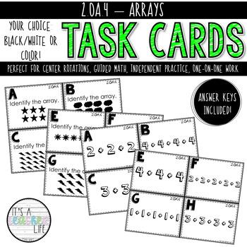 2.OA.4 Task Cards | Arrays