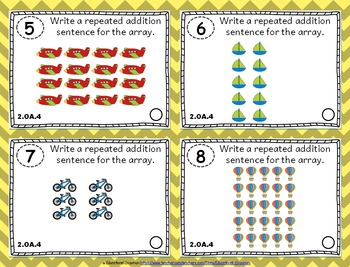 2.OA.4 Task Cards: Arrays & Repeated Addition Task Cards 2OA4: Arrays & Addition