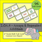 2.OA.4 Task Cards ⭐ Arrays & Repeated Addition Centers