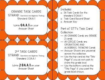 2.OA.A.1 One- and Two-Step Word Problems within 100 Task Cards
