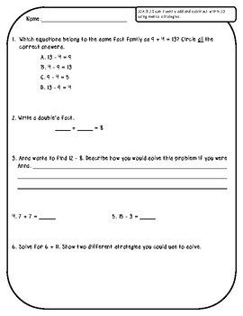 2.OA.B.2 Assessments - Addition and Subtraction Fluency