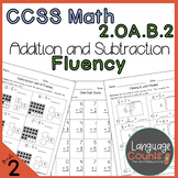 2nd Grade, Addition and Subtraction Fluency- No Prep Practice Worksheets