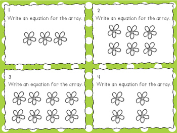 2.OA.C.4  Array & Repeated Addition Task Cards