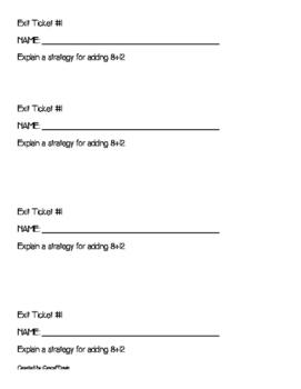 2.OAB.2 Mental Math Strategies Packet