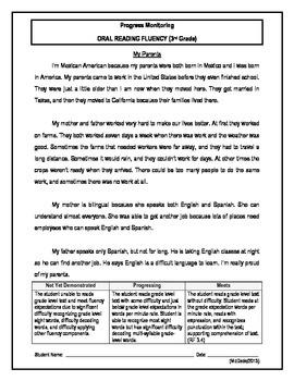 2 Oral Reading Fluency Passage - 3rd Grade