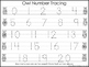 2 Owl themed Task Worksheets. Trace the Alphabet and Numbers 1-20. Preschool