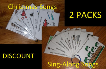 2 PACK COMBO: Sing-Along & Christmas Song Cards Stocking Stuffer