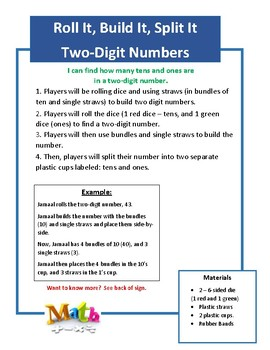 2 - Pack: Roll It, Build It, Split It (Two/Three Digit Numbers)