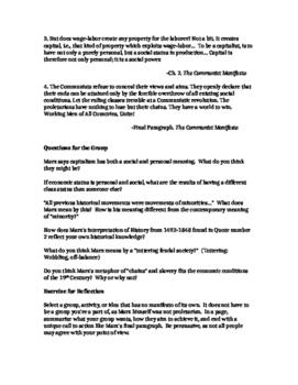 2 Page Plans: The Communist Manifesto