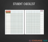2 Page Student Check List for Teachers (Old Schoolhouse Th