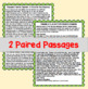 Paired Passages with Writing Prompt: Topic - Characteristics of Harriet Tubman