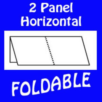 2 Panel Foldable Graphic Organizer - Horizontal Layout