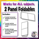 Foldable - 2 Panel Series - Horizontal & Vertical