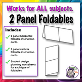 Foldable - 2 Panel Series - Horizontal & Vertical