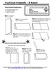 2 Panel Foldable Graphic Organizer - Vertical Layout