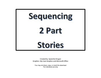 2 Part Story Sequencing